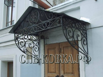 Кованый козырек-085