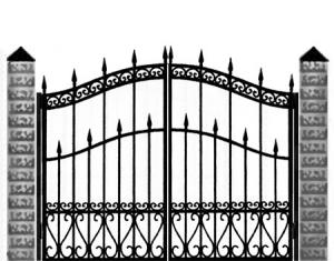 Кованые ворота 037