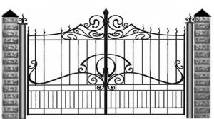 Кованые ворота 082
