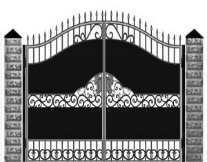 Кованые ворота 048