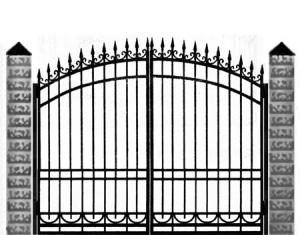 Кованые ворота 034