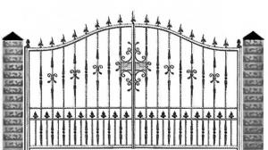 Кованые ворота 078