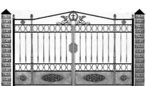 Кованые ворота 083