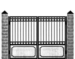 Кованые ворота 007