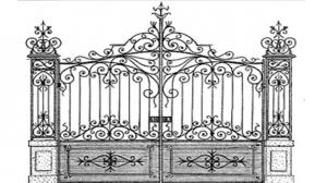 Кованые ворота 120
