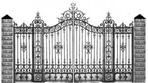 Кованые ворота 122