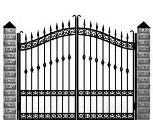 Кованые ворота 040