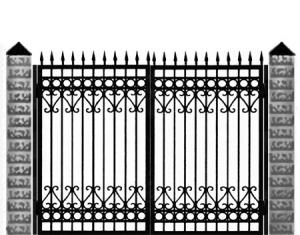 Кованые ворота 026
