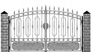 Кованые ворота 056