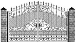 Кованые ворота 107
