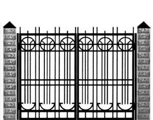 Кованые ворота 024