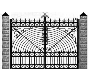 Кованые ворота 043