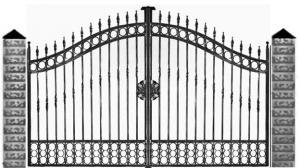 Кованые ворота 072