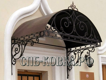 Кованый козырек-020